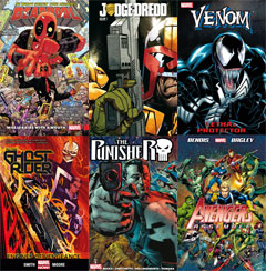 Range of e-comic titles