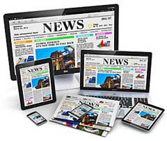 Newspapers on mobile devices