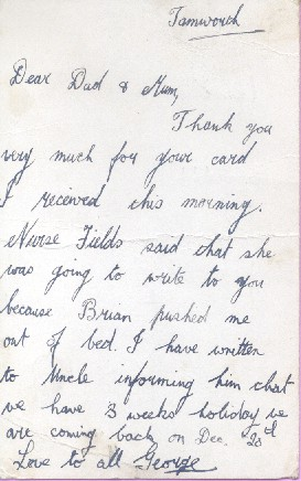 George An Evacuees Story Postcard From George To His Dad And Mum