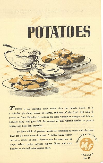 World war ii ministry of food leaflet no 27 digitised resources ministry of food leaflet no 27 potatoes forumfinder Image collections