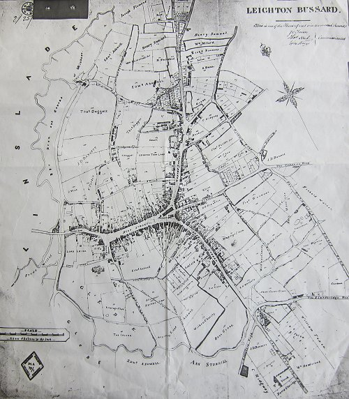 Leighton Buzzard Map Leighton Buzzard Maps: Leighton Bussard Town Map 1848   Digitised